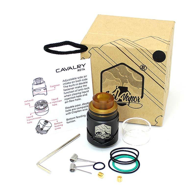 Coolvapor Adjustable Air Clapton Cavalry Rdta Wholesale Supplier